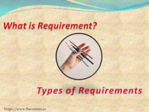 What is requirement and types of requirements