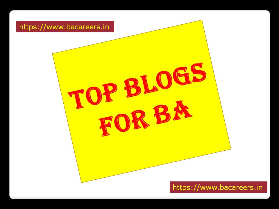 Top Blogs for Business Analyst