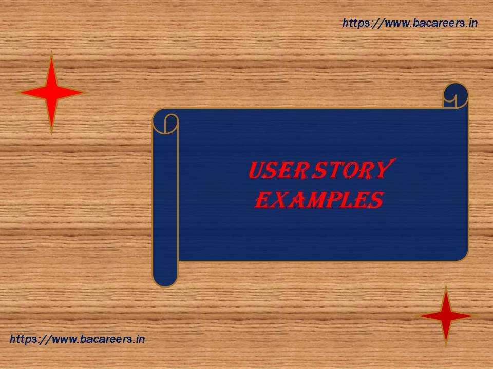 User Story Examples