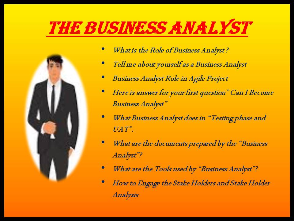 THE BUSINESS ANALYST